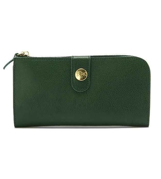 クリスマスプレゼントにおすすめなお財布はイルビゾンテのロングウォレット緑です