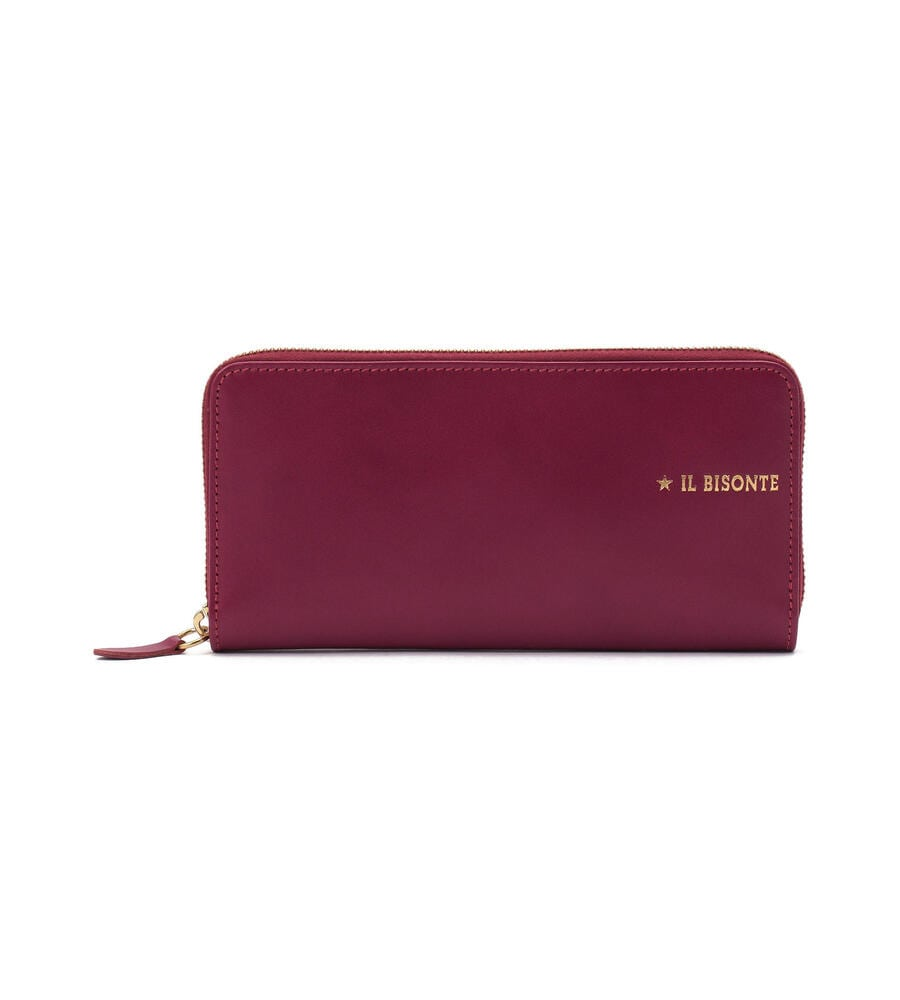 クリスマスプレゼントにおすすめなお財布はイルビゾンテのロングウォレット赤です